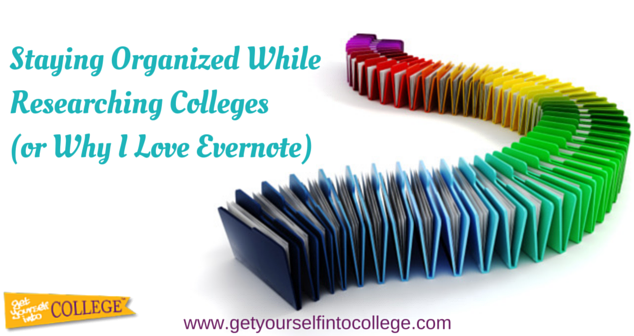 Staying Organized While Researching Colleges (or Why I Love Evernote)