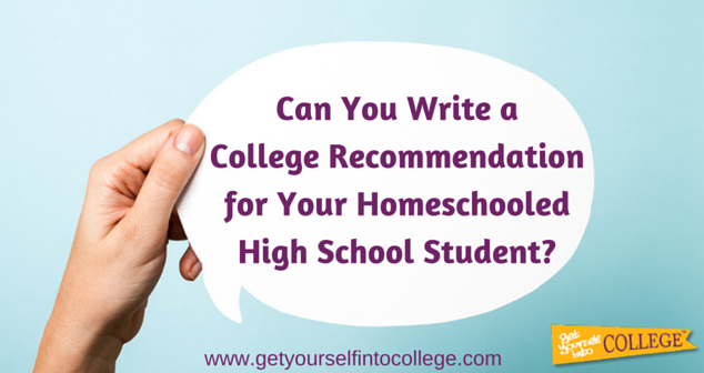 can you write a college recommendation for your homeschooled high school student