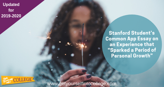 "Experience that ""Sparked a Period of Personal Growth"""
